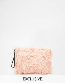 Story of Lola  - Faux Fur Clutch Bag