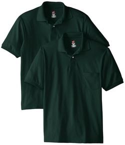 Hanes - Short Sleeve Jersey Pocket Polo Shirt
