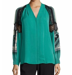 Kobi Halperin - Raine V-Neck Silk Blouse
