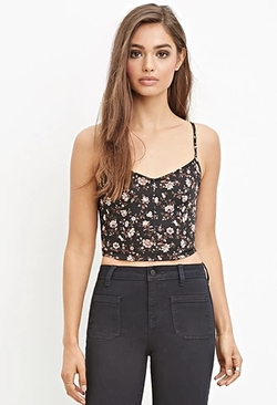 Forever 21 - Floral Print Cropped Cami Top