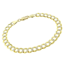 In Style Designz - Cuban Diamond Cut Curb Link Bracelet