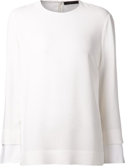 The Row - Boxy Crepe Top