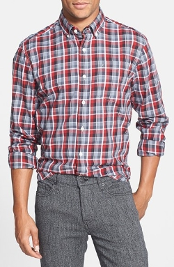 Victorinox Swiss Army - Tailored Fit Stretch Plaid Flannel Sport Shirt