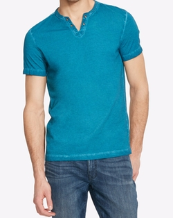 Kenneth Cole Reaction - Eyelet Henley T-Shirt