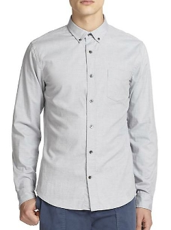 Vince - Regular-Fit Double Weave Cotton Dress Shirt