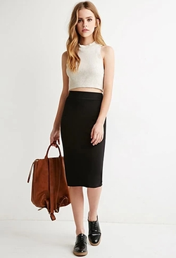 Forever 21 - Classic Knit Pencil Skirt