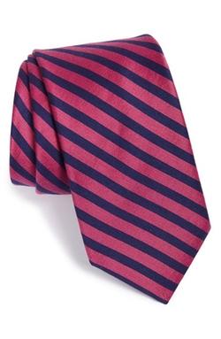Ted Baker London - Stripe Cotton & Silk Tie