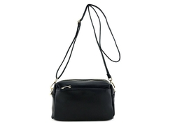 FashionPuzzle - Triple Zip Small Crossbody Bag