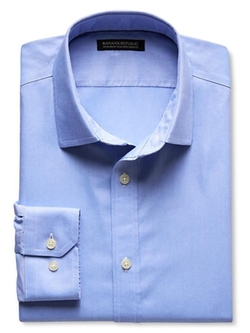 Banana Republic - Tailored Slim-Fit Non-Iron Solid Oxford Shirt