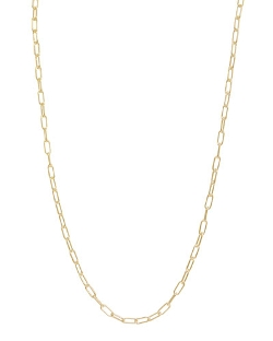 Heather Moore - Gold Long-Link Chain Necklace