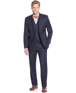 Lauren Ralph Lauren  - Slim-Fit Birdseye Vested Suit
