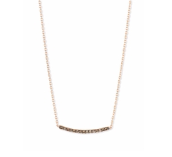 Kismet by Milka Lumiere  - Champagne Diamond Bar Necklace