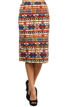 Private Label - Trendy Print Stretch Pencil Skirt