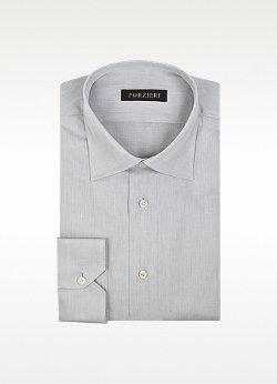 Forzieri - Gray Cotton Dress Shirt