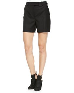 McQ Alexander Mcqueen -  Wool Tuxedo Shorts