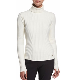 Tory Burch - Ribbed Turtleneck Sweater