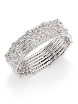Adriana Orsini  - Pavé Gate Bangle Bracelet