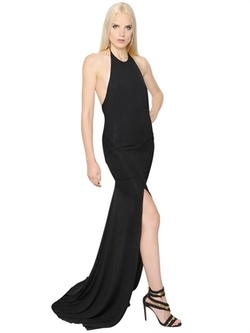 Alexandre Vauthier  - Stretch Viscose Jersey Halter Dress