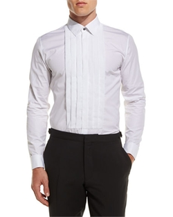 Burberry - Pleated-Bib Tuxedo Shirt