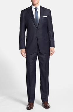 Hickey Freeman  - Classic Fit Wool Suit