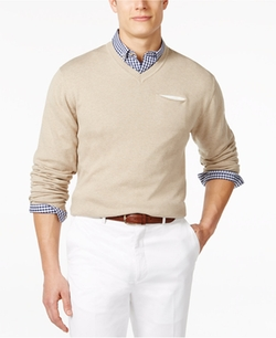 Ryan Seacrest Distinction  - V-Neck Pocket Sweater
