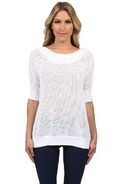 Minnie Rose  - Mesh Pullover