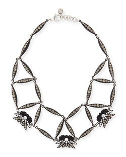 Lulu Frost  - Larkspur Crystal Web Necklace