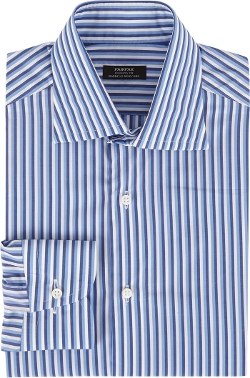 Fairfax - Variegated-Stripe Fitted Shirt