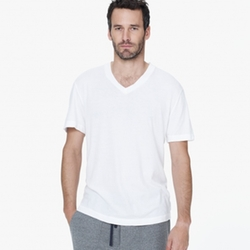 James Parse - Mélange Jersey Short Sleeve V-Neck Tee