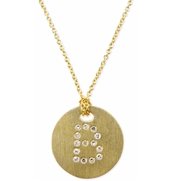 Roberto Coin - Letter Medallion Necklace