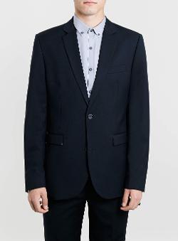 Topman - Navy Slim Suit Jacket