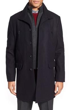 Michael Kors  - Trim Fit Wool Blend Overcoat