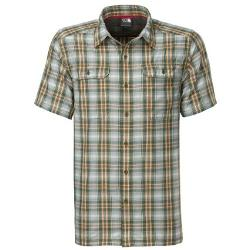The North Face - Short Sleeve Pine Knot Woven Flannel Shirt Subtle Green