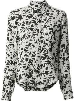 Kenzo - palm print fitted shirt
