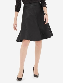 The Limited - Faux Leather A-Line Skirt