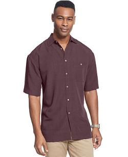 Campia Moda  - Short Sleeve Microfiber Soft Touch Solid Texture Shirt