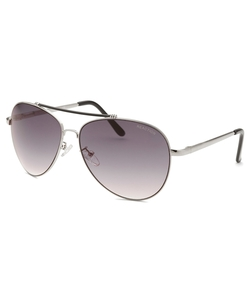 Kenneth Cole Reaction - Aviator Silver-Tone Sunglasses