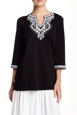 Joan Vass - Embroidered Tunic Top