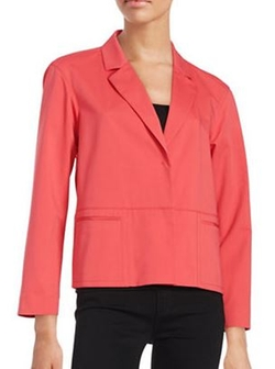 Lafayette 148 New York  - Two-Button Cotton-Blend Blazer