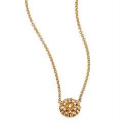 Zoe Chicco - Pavé Diamond Tiny Disc Necklace