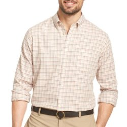 Van Heusen - No-Iron Grid Long-Sleeve Woven Shirt
