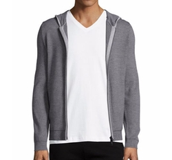 Theory - Bisley Castelle Thin-Strip Zip-Up Hoodie