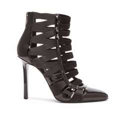 Tamara Mellon - Corset Patent Leather & Satin Booties
