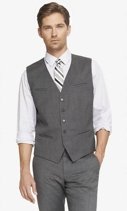 Express - Stretch Wool Suit Vest