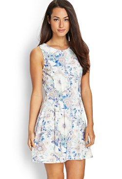 Forever 21 - Sleeveless Floral Woven Dress