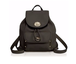 Coach - Mini Leather Turnlock Backpack