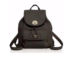 Coach - Mini Leather Turnlock Backpack