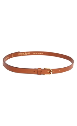 Maison Boinet - Skinny Leather Belt