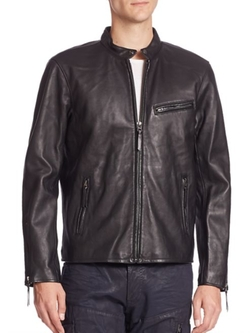 Polo Ralph Lauren  - Lambskin Leather Café Racer Jacket