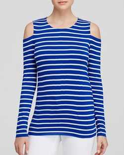 Bailey 44  - Cold Shoulder Striped Top
